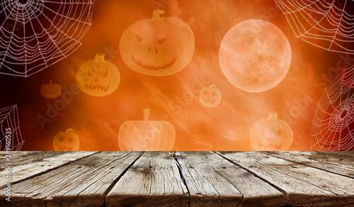 Fotografie, Obraz  Empty wooden table - Halloween background