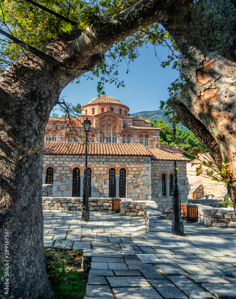 Fototapety, obrazy: Hosios Loukas monastery is one of the most important monuments of Middle Byzantine architecture and an UNESCO World Heritage Site