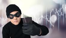Thief In Black Wear Holding Wa...