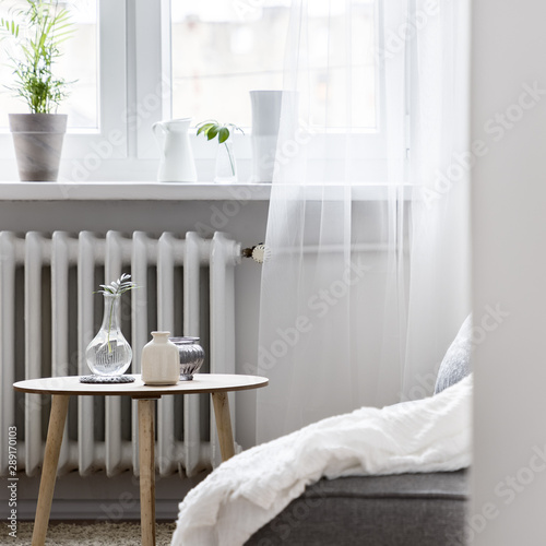 Home interior with small table