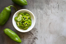 Bowl Of Jalapeno Slices