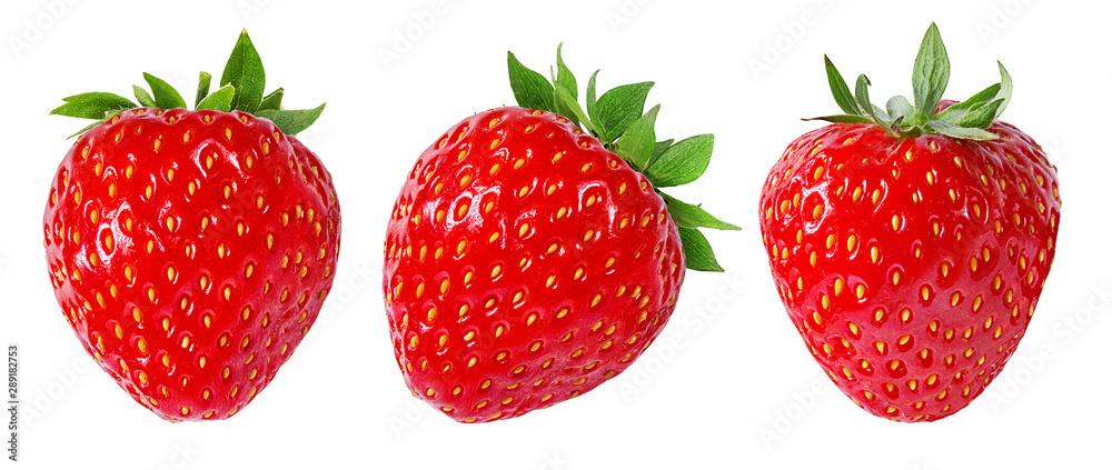 Fototapety, obrazy: Strawberry isolated on white background