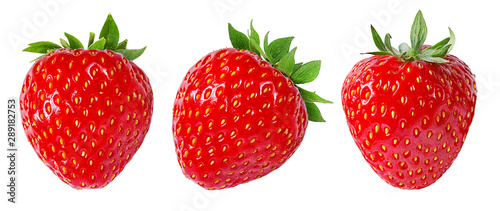 Obraz Strawberry isolated on white background - fototapety do salonu