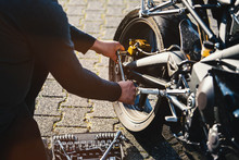 Mechanic Working In Garage. Repair Service.