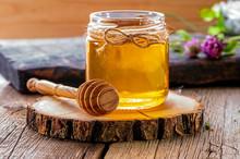 Jar Of Fresh Honey With Honey ...