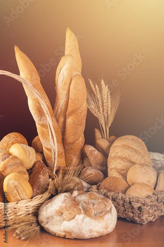 Bread pasta rice wheat flour isolated loaf of bread