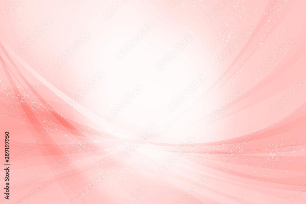 Fototapety, obrazy: アブストラクト ダイナミックな曲線の構成(ピンクの背景)