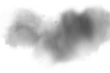 Abstract Dark Smoke On White B...