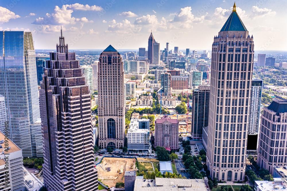 Fototapety, obrazy: Aerial view downtown Atlanta skyline