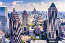 Aerial View Downtown Atlanta S...