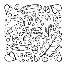 Autumn Doodle Hand-drawn Page ...