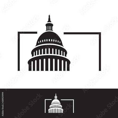 Obraz na plátne  creative simple american capitol building vector logo design