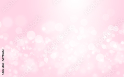 Bokeh abstract blurred pink and white beautiful background Canvas Print