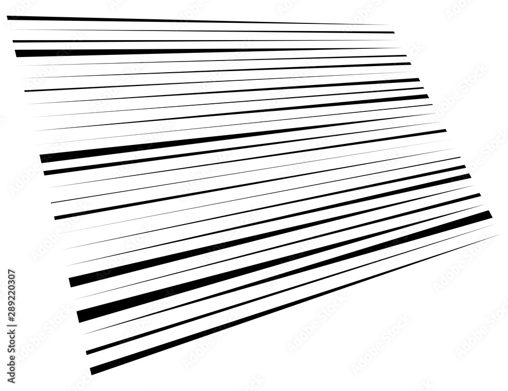 Fototapeta 3d lines pattern in perspective. Oblique, slanting stripes. Diminishing parallel, straight skew strips, streaks texture.Asymmetric dynamic lines abstract geometric illustration. Lineal, linear element