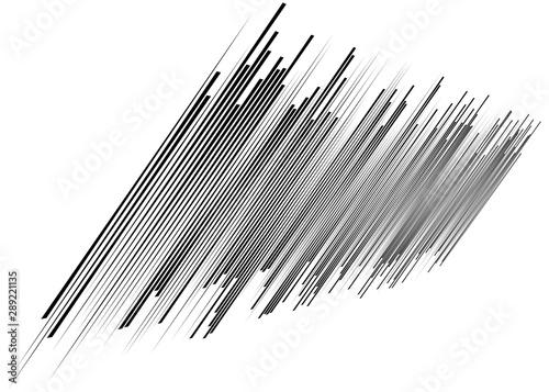 Cuadros en Lienzo  3d lines pattern in perspective