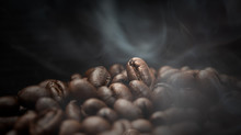 Aroma Roasted Coffee Beans Wit...