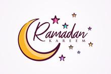 Colorful Letter Vector Ramadan Kareem For Element Design
