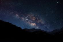 Milky Way Galaxy With Shooting...