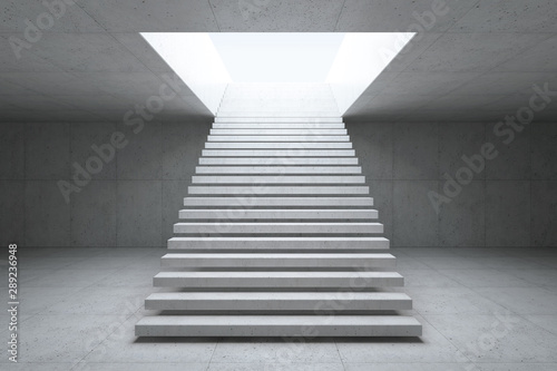 Obraz blank concrete space interior, 3d rendering - fototapety do salonu