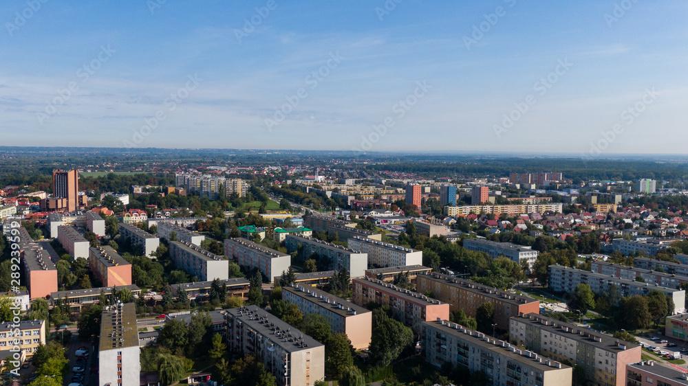 Obraz Tarnobrzeg- Panorama miasta fototapeta, plakat
