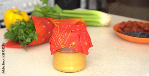 Photo Reusable Beeswax Food Wraps