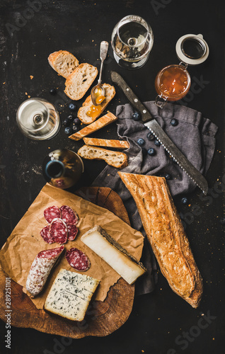 Fotografie, Obraz Wine and snack set