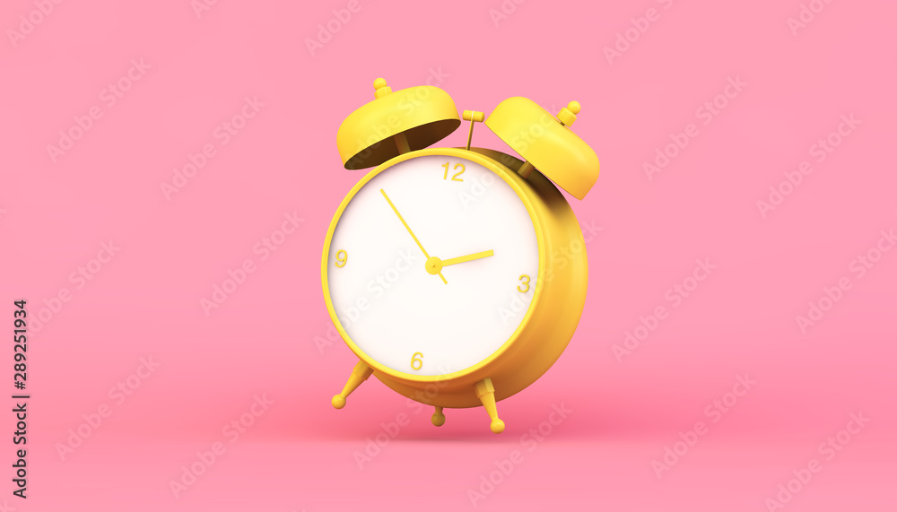 Fototapety, obrazy: yellow clock 3d rendering