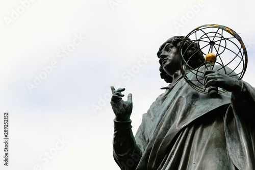 The Nicolaus Copernicus Monument in Torun - home town of astronomer Nicolaus Copernicus Canvas Print