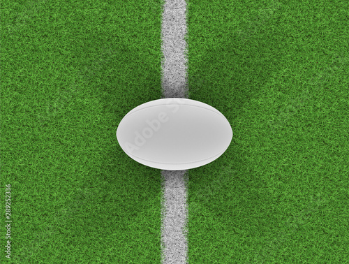 Papiers peints Pierre, Sable Rugby Ball On Grass Pitch