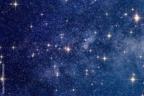 Milky Way stars photographed with astronomical telescope Canvas Print