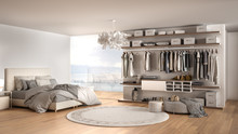 Luxury White Modern Bedroom Wi...