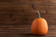 canvas print picture Pumpkin on wooden background