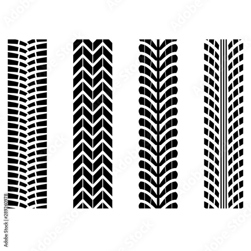 tiretracks-vector-set