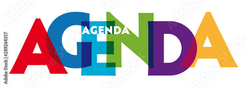 Photo Agenda - vector of stylized colorful font