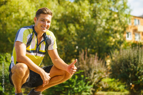 fototapeta na drzwi i meble Young sporty man outdoor