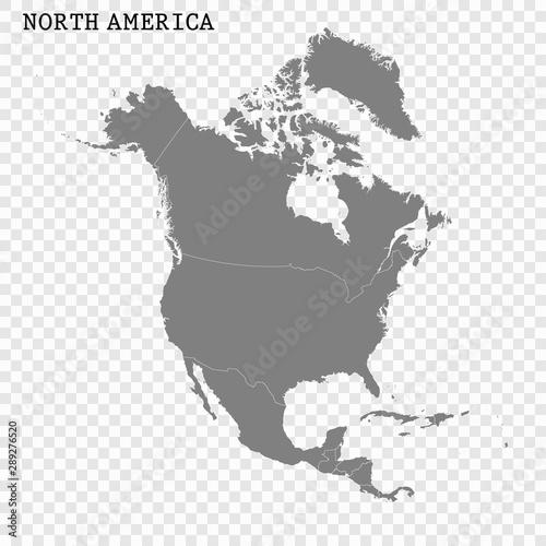 Fotografía  High quality map of North America