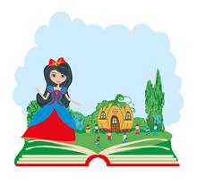 Open Book Illustration. Fairy ...