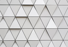 Silver Geometric Wall Backgrou...