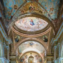 "Kuba, Havanna;  Innenaufnahme In Der Kirche  "" Iglesia De Nuestra Senora De La Merced "", Deckengemälde."
