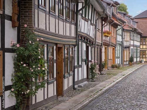 Canvastavla historische Altstadthäuser von Wernigerode im Harz