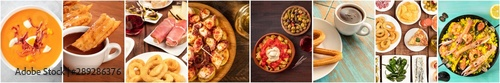 Photo Spanish Cuisine food Collage