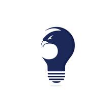 Eagle Light Bulb Logo Design. ...