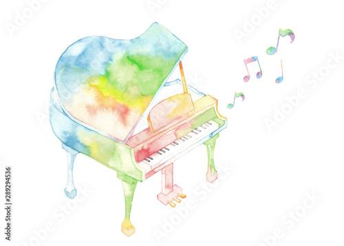 Fotografía  七色ピアノと音符