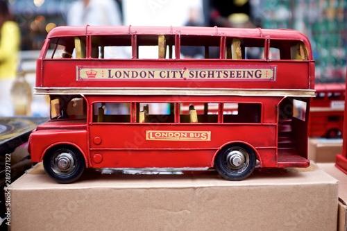 Türaufkleber London roten bus Notting Hill