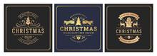 Christmas Square Banners Vinta...