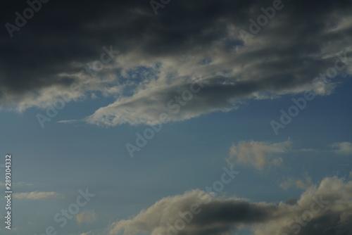 Türaufkleber Darknightsky Atmosphere with clouds