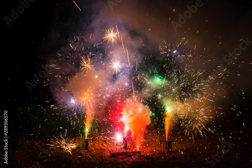 Feu d'artifice Tablou Canvas