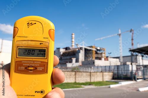 Photo  Radiazioni vicino al reattore n. 4 di Chernobyl