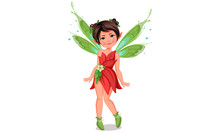 Cute Little Fairy In Standing ...