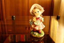Beautiful Porcelain Figurine Of A Girl. Toy Doll Girl.